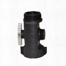 """C&S Supply T-Valve, 1.5"""" F. X 1.5"""" M. X 1"""" M., NSPH - male - Included"""