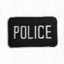 "Uncle Mikes Police ID Patch Black/White, Large, 5""x8"" - Black - male - Included"