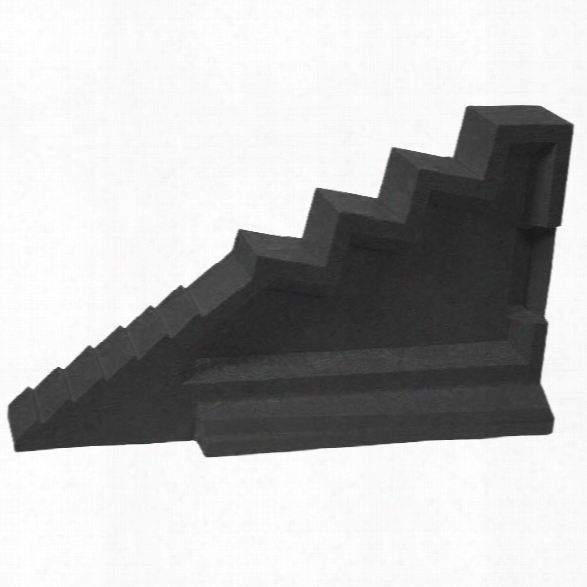 "Turtle Plastics Step Chock, 25"" X 5.5"" X 11"", Black - Black - Male - Excluded"