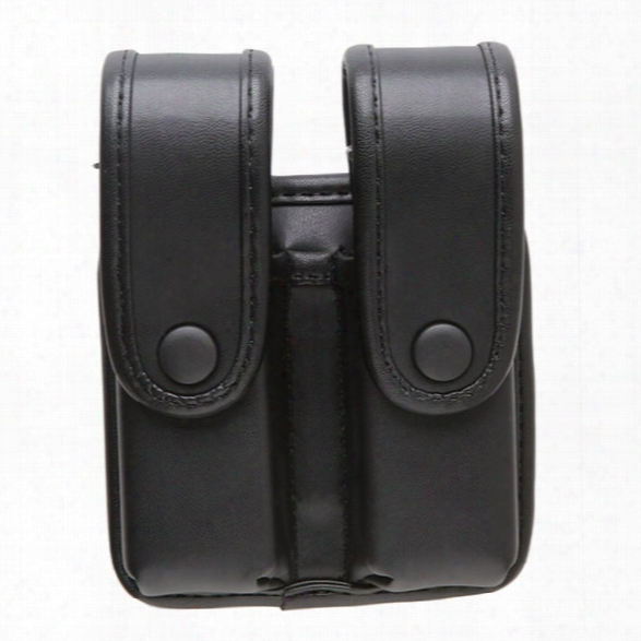 Uncle Mikes Divided Fitted Pistol Mag Case W/flaps For Double Row Mags, Mirage Basketweave - Unisex - Included