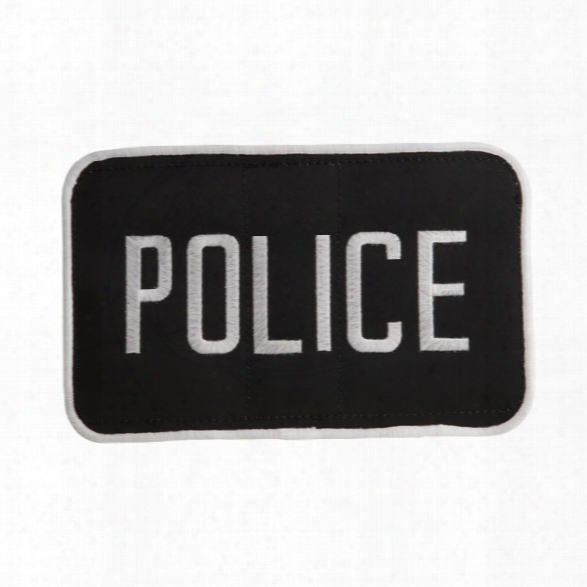 """Uncle Mikes Police Id  Patch Black/white, Large, 5""""x8"""" - Black - Male - Included"""