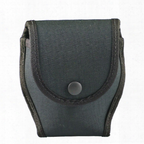 Uncle Mikes Single Hinged Cuff Case W/flap, Kodra Nylon, Black - Black - Male - Included