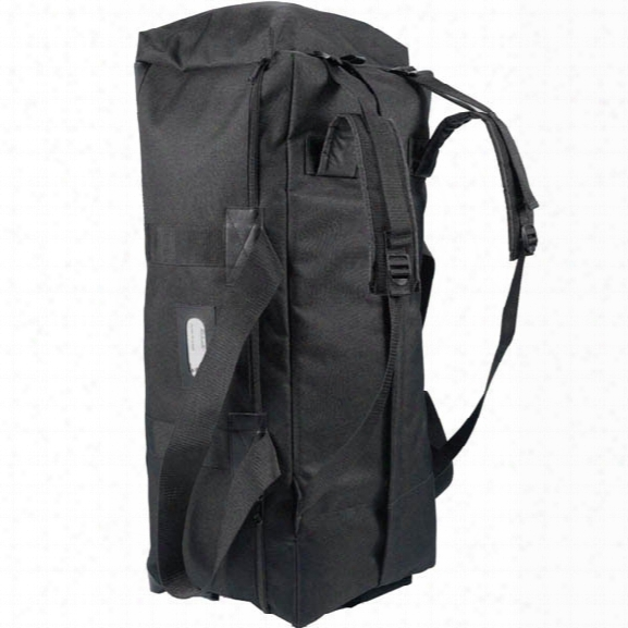 Uncle Mikes Tactical Bag W/ Shoulderstraps, Black - Black - Male - Included
