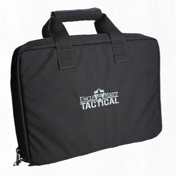 Uncle Mikes Tactical Pistol Case, Black - Black - Unisex - Included