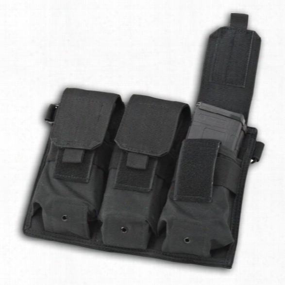 Us Peacekeeper Triple Magazine Pouch, Black - Black - Male - Included