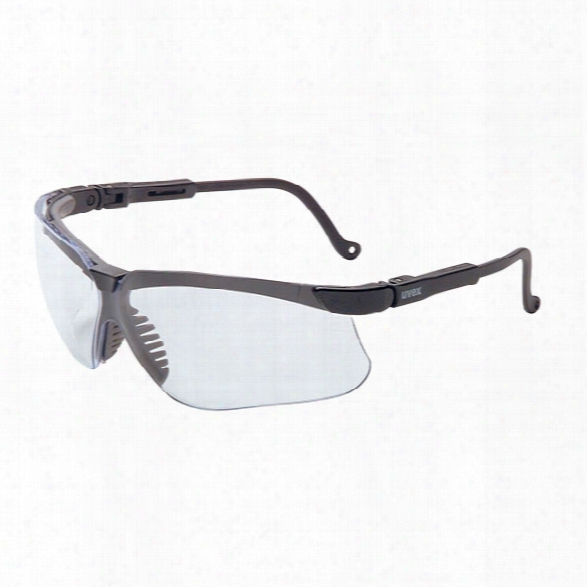 Uvex Genisis Eyewear W/black Frame & Clear Dura-streme Lens - Clear - Male - Included
