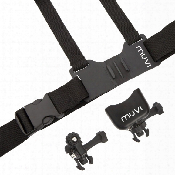 Veho Chest Harness Mount For Muvi™ And Muvi™ Hd Cameras - Unisex - Included