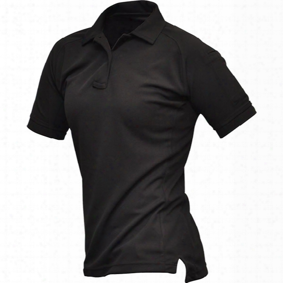Vertx Womens Coldblack Short Sleeve Polo, Black, Medium - Black - Female - Included