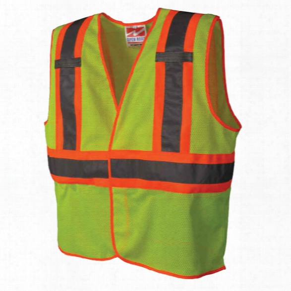 Viking Open Road Bte Safety Vest, Fluorescent Green, 2xl-arge/3x-large - Green - Unisex - Included