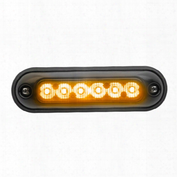Whelen Ion™ Wide Angle Series Super-led® With Scan-lock™ Flash Patterns & 4-wire Pigtail, Universal Mount, Black Housing, Amber - Marine - Male