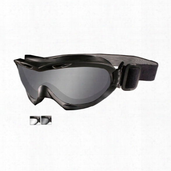 Wiley X Nerve Goggles Black Frame W/clear And Gray Lenses - Smoke - Female - Included