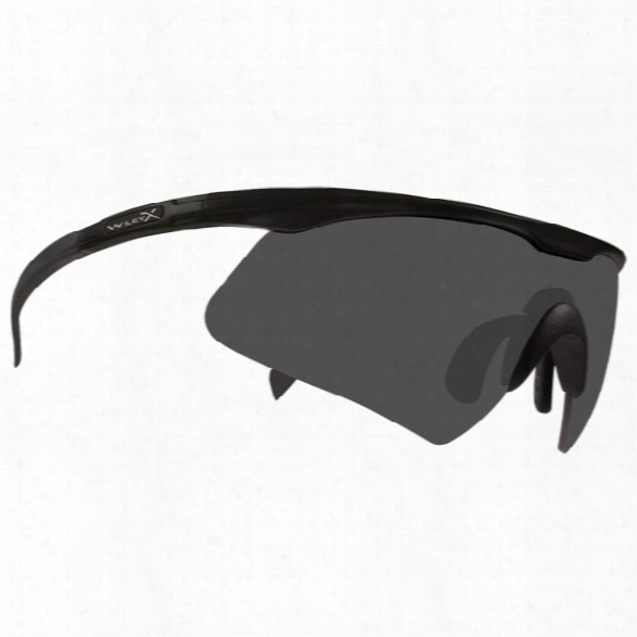 Wiley X Pt-1 Tactical Eyewear W/ Soft Case, Matte Black Frame And Clear Lens - Smoke - Unisex - Included