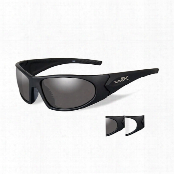 Wiley X Romer Iii Advanced Eyewear Includes Smoke Grey Lens, Clear Lens, Matte Black Frame - Black - Male - Included
