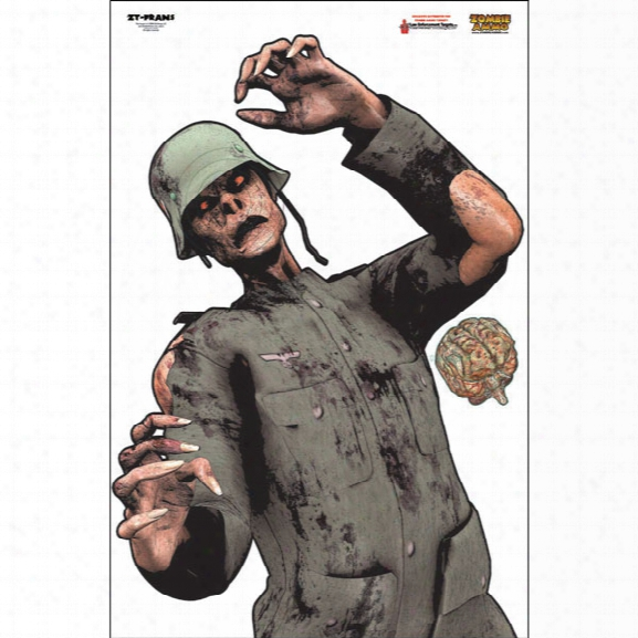 Law Enforcement Targets Frans Zombie Target, Full , 25/pk - Unisex - Included