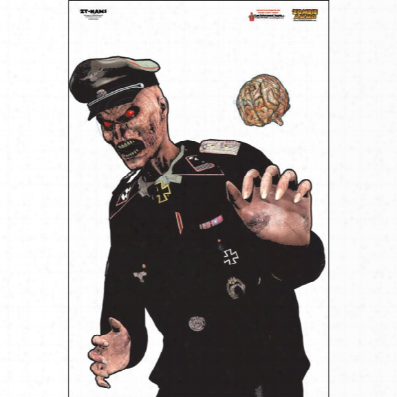 Law Enforcement Targets Hans Zombie Target, Full Color, 25/pk - Unisex - Included