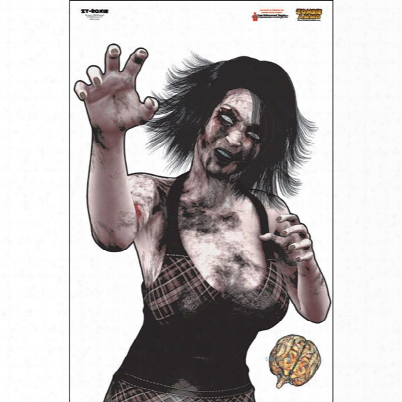 Law Enforcement Targets Roxie Zombie Target, Full Color, 25/pk - Unisex - Included