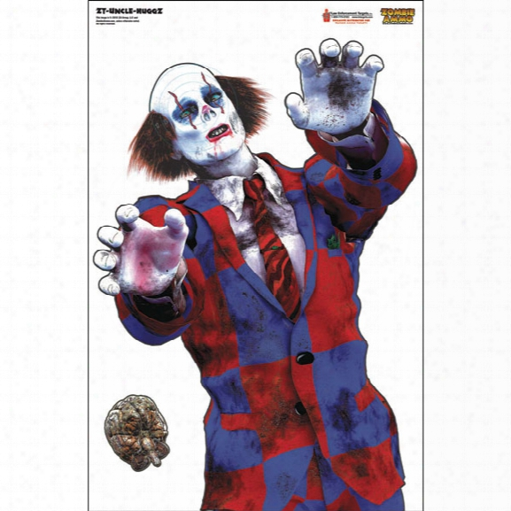Law Enforcement Targets Uncle Huggs Zombie Target, Full Color, 25/pk - Unisex - Included